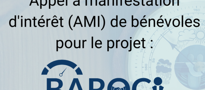 Appel à Manifestation d'Intérêt (AMI) bénévoles BAROCI